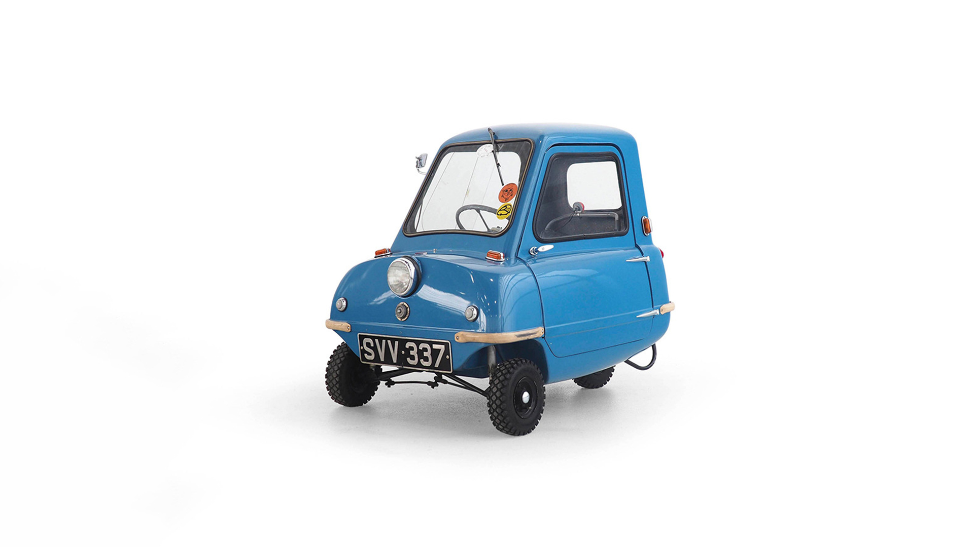 "Peel P.50, 1963. Only 47 of ""the smallest car of the world"" have been built in Great Britain"