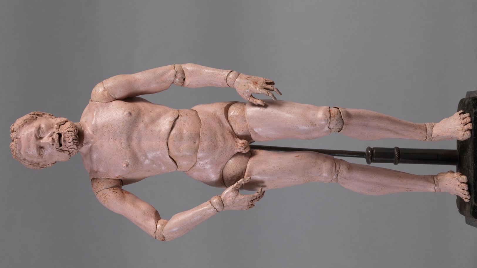 DURERO, ALBERTO (?) Maniquí articulado Hacia 1525. Madera de boj, 28 x 8 cm