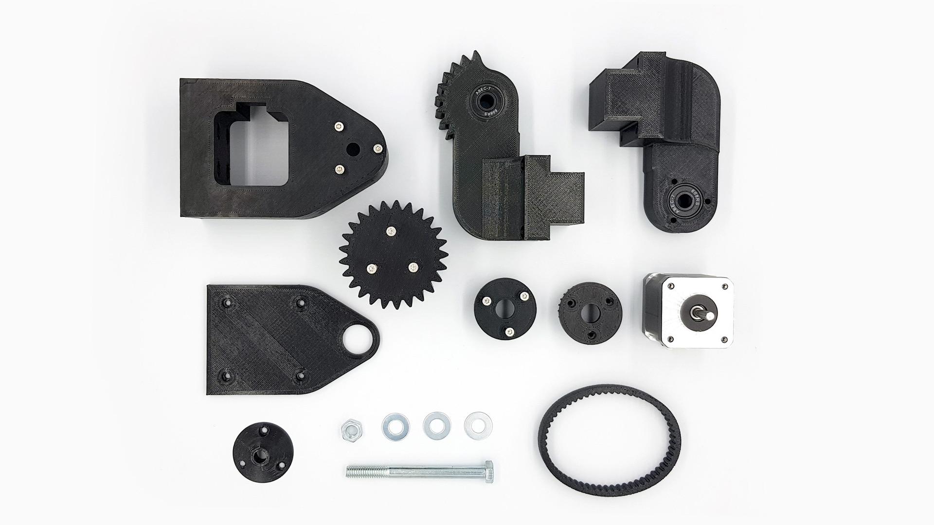 Despiece Transmisión - Prototipado Rápido PLA + Correa Impresión Flex
